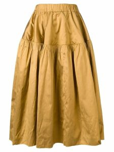 Marques'Almeida full ruched skirt - Gold
