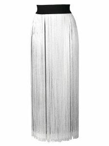 Smarteez fringed sleeveless midi dress - White