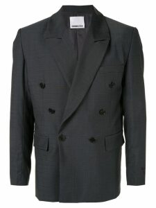 Ground Zero checked double-breasted blazer - Grey