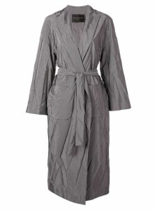 Fabiana Filippi wrinkled effect trench coat - Grey