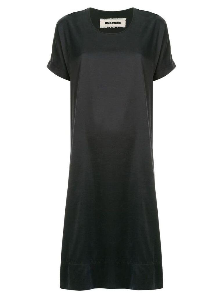 Uma Wang short-sleeve midi dress - Blue