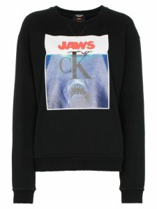 Calvin Klein 205W39nyc jaws logo cotton sweatshirt - Black