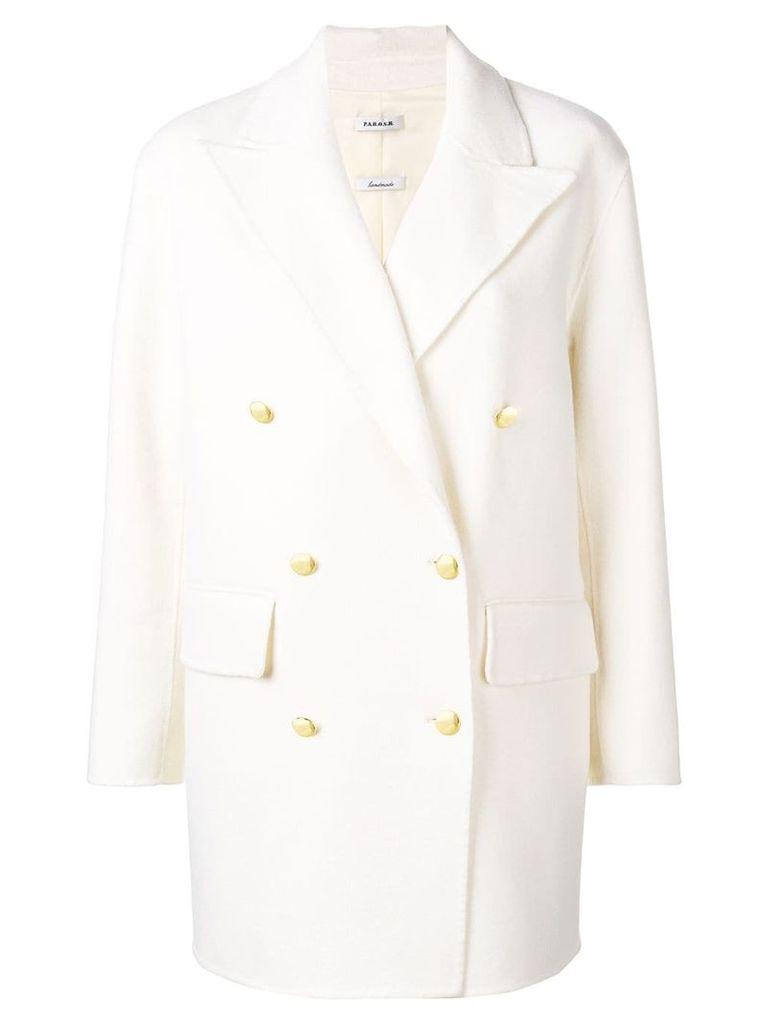 P.A.R.O.S.H. Lottie coat - White