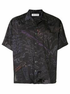 Ground Zero graffiti printed shirt - Black