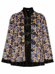 Gucci sequin embellished faux fur coat - Black