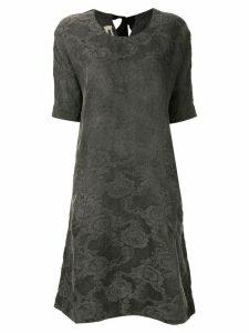 Uma Wang floral pattern midi dress - Grey