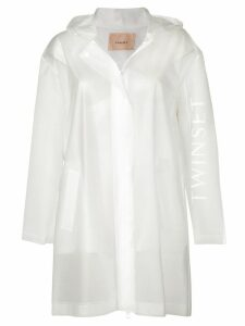 Twin-Set concealed zip coat - White