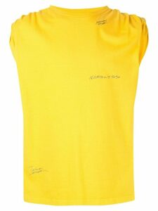 Ground Zero roll-sleeves tank top - Yellow