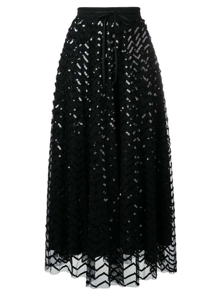 P.A.R.O.S.H. sequined midi skirt - Black