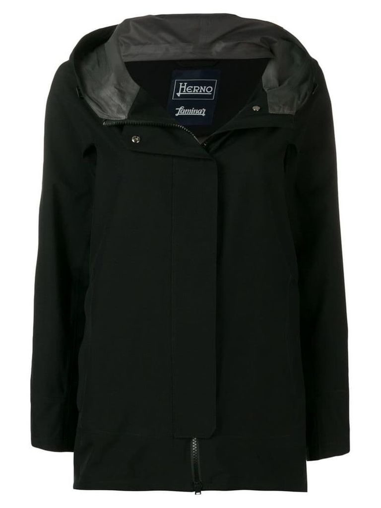 Herno hooded raincoat - Black