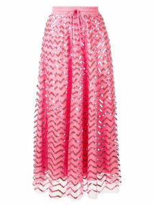 P.A.R.O.S.H. sequined midi skirt - Pink