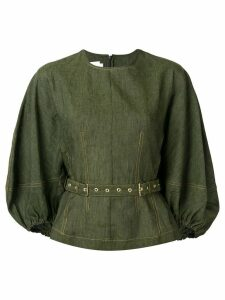 Marques'Almeida panelled buckle fastened blouse - Green