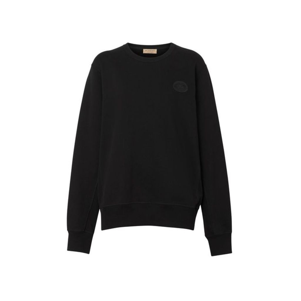 Burberry Crest Detail Cotton Sweatshirt