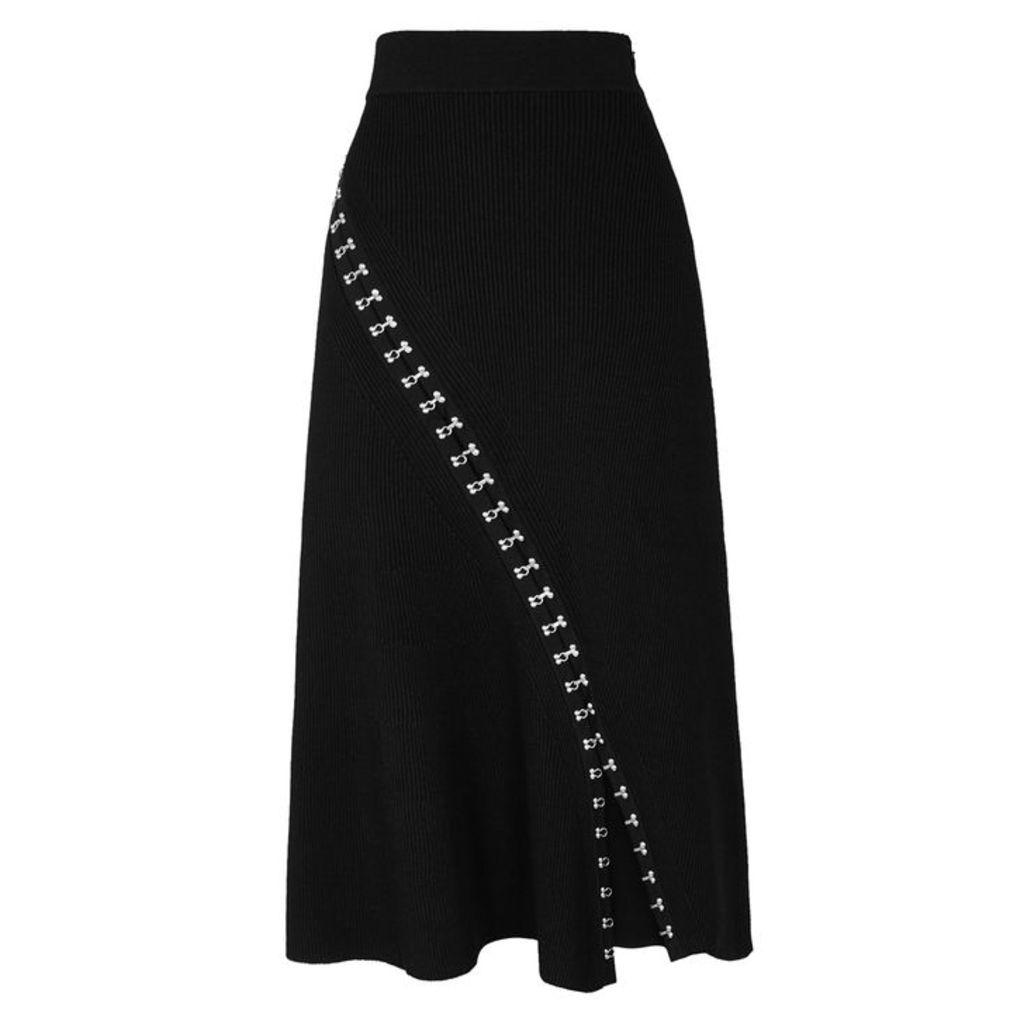 Alexander McQueen Black Hook-embellished Skirt
