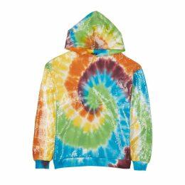 R13 Tie-dye Cotton-blend Hooded Sweatshirt