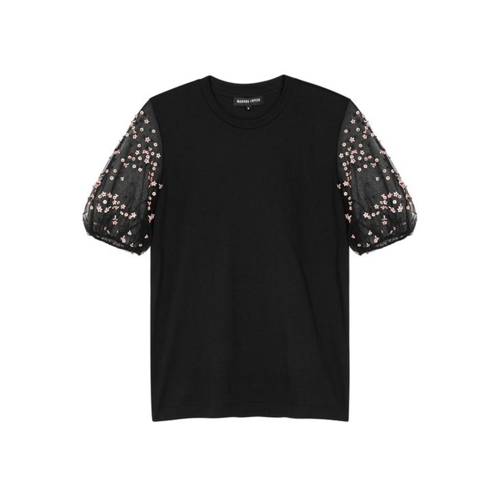 Markus Lupfer Carlie Embellished Cotton T-shirt