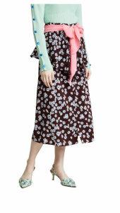 Anna October Floral Midi Skirt