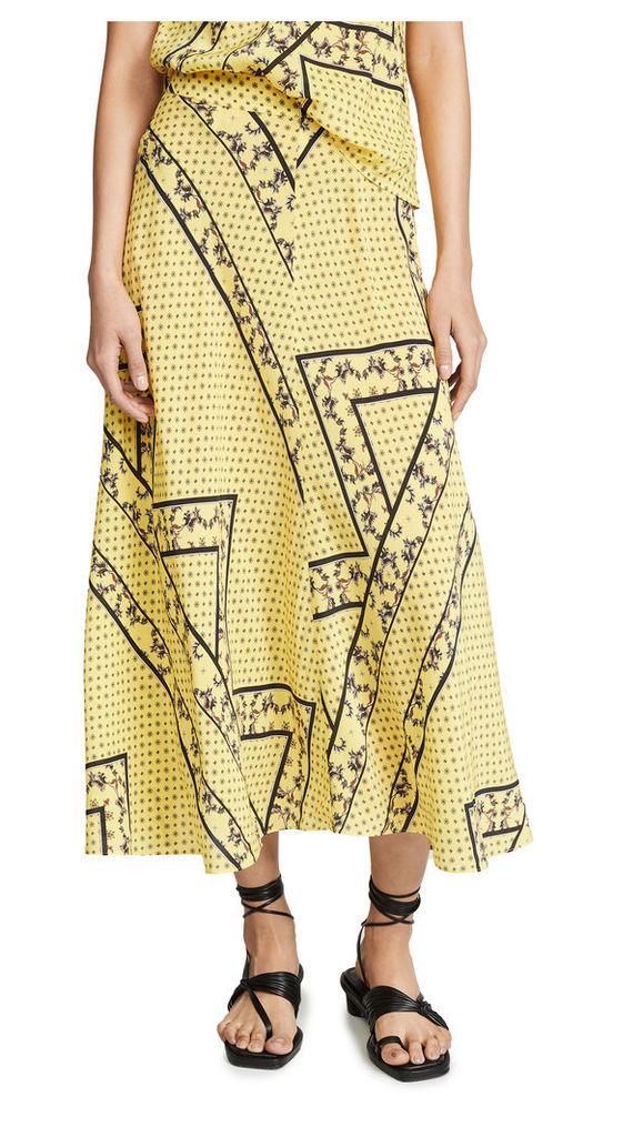 GANNI Silk Mix Skirt