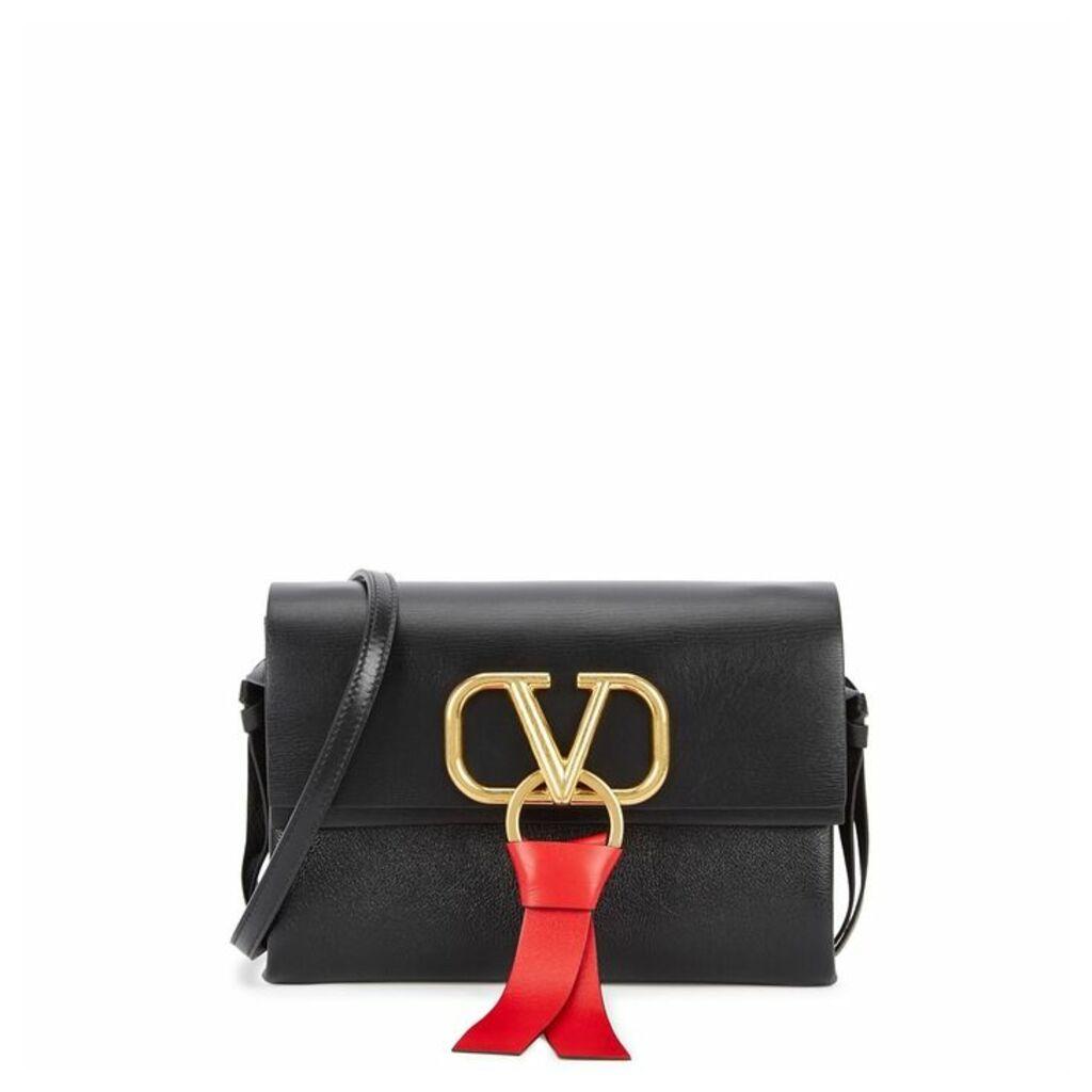 Valentino Garavani VRing Black Leather Cross-body Bag