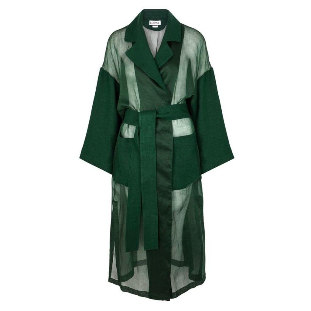 Loewe Dark Green Organdie Coat