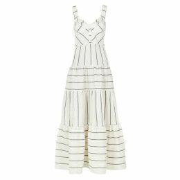 PAPER LONDON Porto Striped Linen-blend Maxi Dress