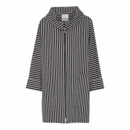 McVERDI - Striped Oversize Spring Coat