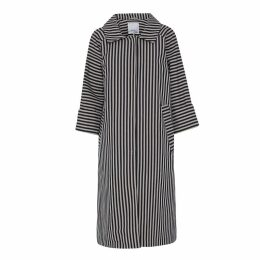 McVERDI - Striped Cotton Coat With Belt