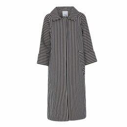 McVERDI - Striped Cotton Coat With Belt