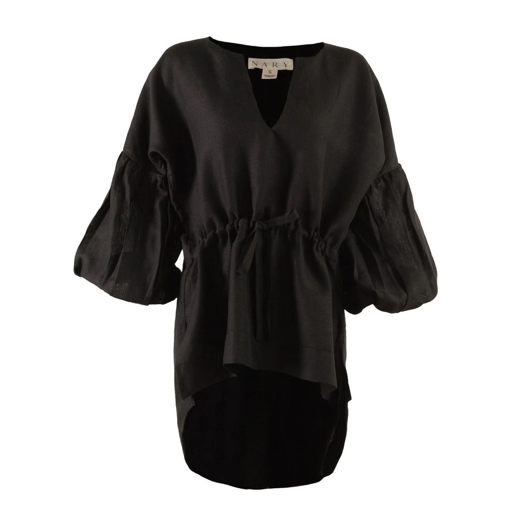 McVERDI - Summer Top With Blue Flower Print
