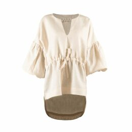 McVERDI - Light Grey Summer Top With Flower Print
