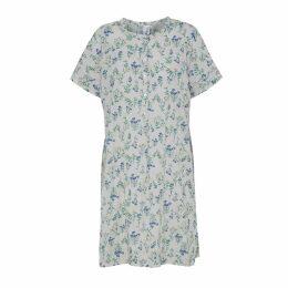 McVERDI - Light Grey Tunic Dress With Flower Print