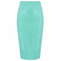 McVERDI - Blue Summer Dress With Flower Print & Ruffles