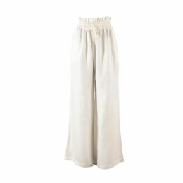 McVERDI - Light Grey Summer Dress With Flower Print & Ruffles