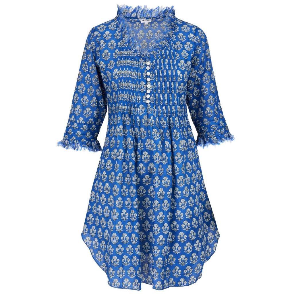 McVERDI - Short Sleeved Dress With Big Dots