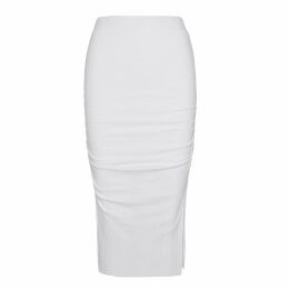 McVERDI - Fitted Dress With Boat Neckline & Big Dots