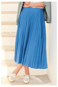 Womens Next Blue Pleat Skirt -  Blue