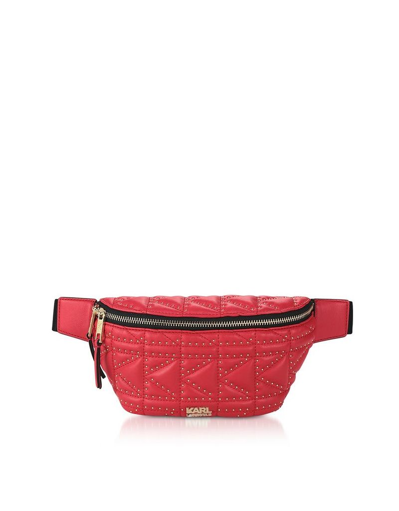 Karl Lagerfeld Designer Handbags, K/Kuilted Studs Belt Bag