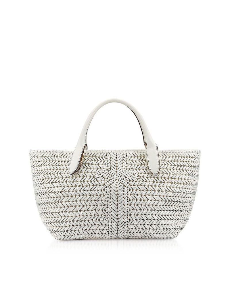 Anya Hindmarch Designer Handbags, Chalk Calf Leather The Neeson Tote