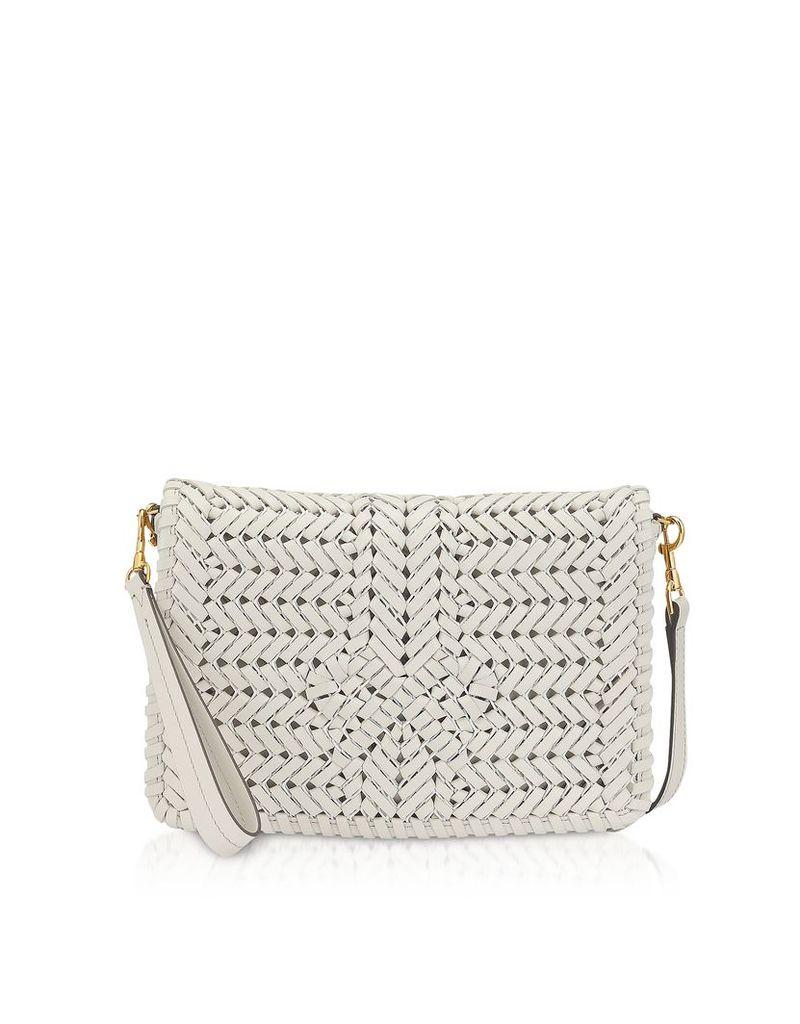 Anya Hindmarch Designer Handbags, Chalk Calf Leather The Neeson Cross Body