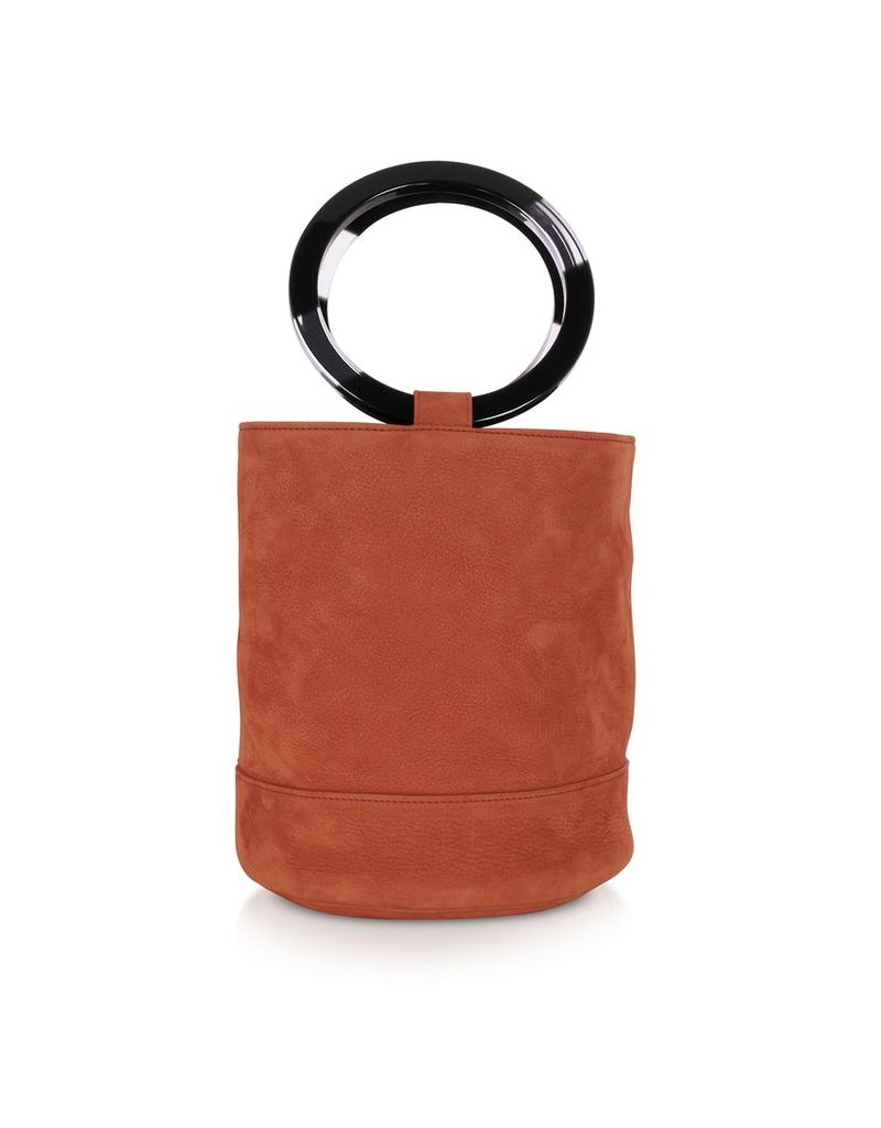 Simon Miller Designer Handbags, S804 Rust Nubuck Bonsai 20 cm Bag