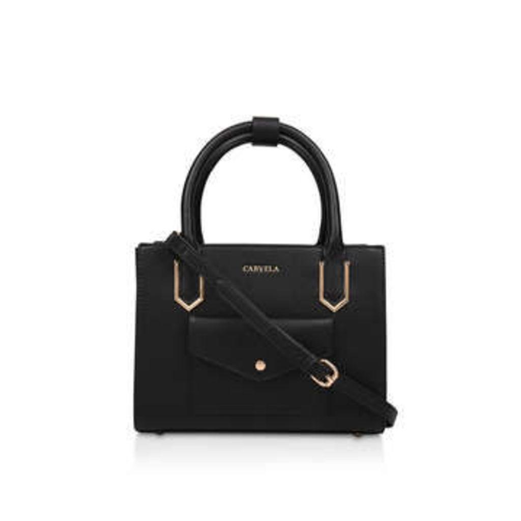 Carvela Caz Pckt Front Mini Tote - Black Mini Tote Bag