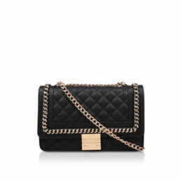 Carvela Large Bailey Chain Bag - Black Quilted Chain Shoulder Bag