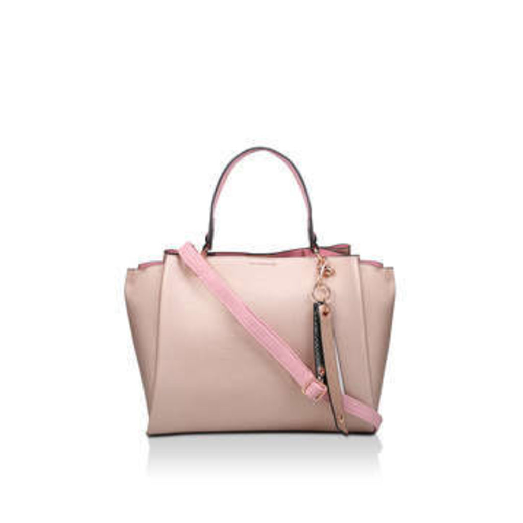 Aldo Nusz - Metallic Pink Tote Bag with Detachable Charm