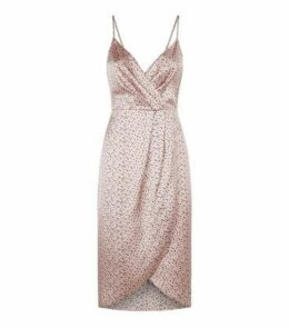 Blue Vanilla Pink Spot Satin Slip Dress New Look