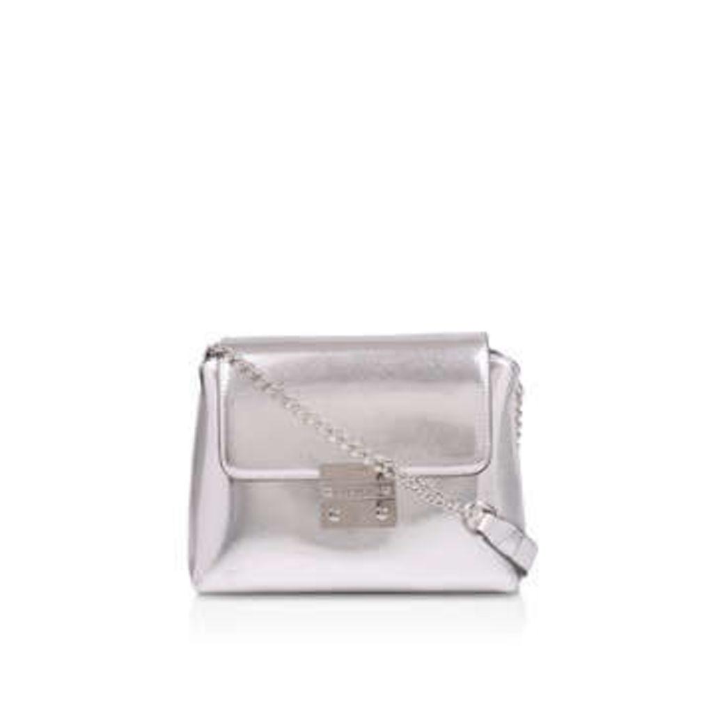 Carvela Mini Blink Shoulder Bag - Metallic Silver Shoulder Bag