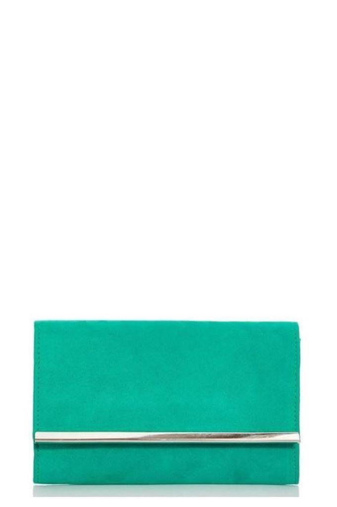 Quiz Jade Green Faux Suede Bag