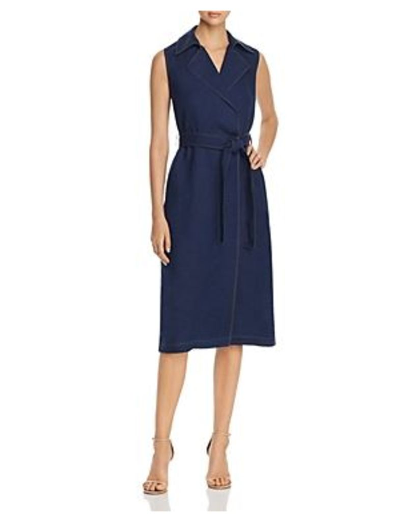 Lafayette 148 New York Florence Sleeveless Belted Dress