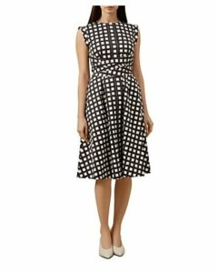 Hobbs London Eloise Tie-Waist Check Dress - 100% Exclusive