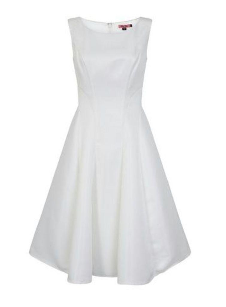 **Chi Chi London White Skater Dress, White