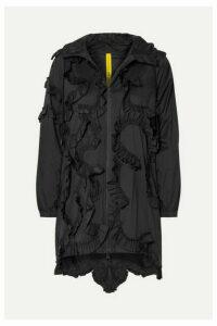 Moncler Genius - + 4 Simone Rocha Ruffled Shell Jacket - Black